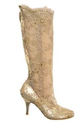 мереживні весільні чобітки