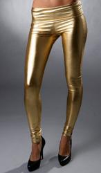золотые леггинсы