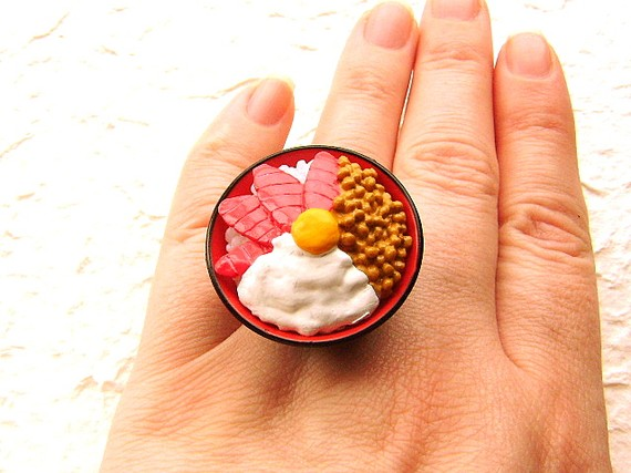 Кольца Kawaii — еда на руке