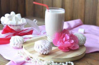 молочный коктейль с зефиром